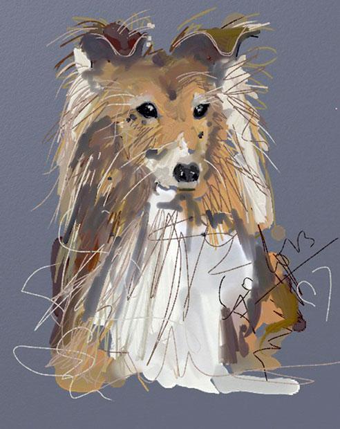 Digitaal schilderij van Hond Good Boy