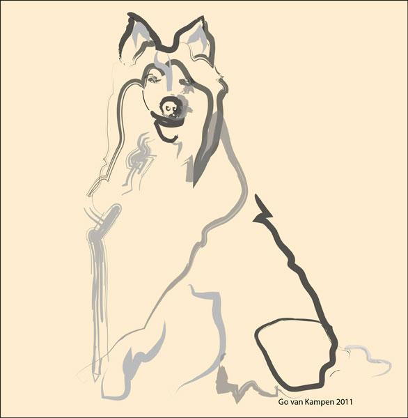 Digitaal schilderij van Lassie