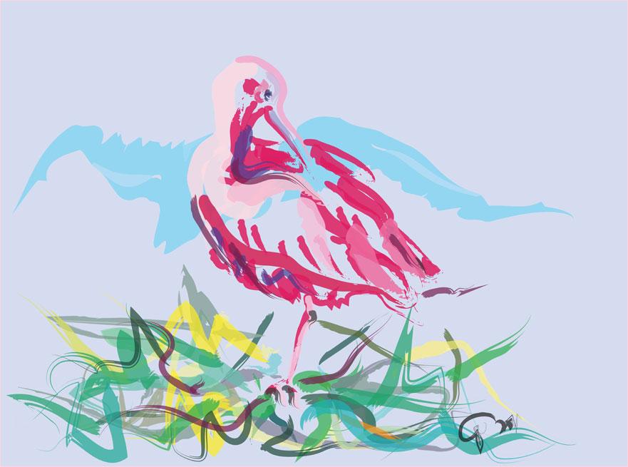 Digitaal schilderij van Ibis