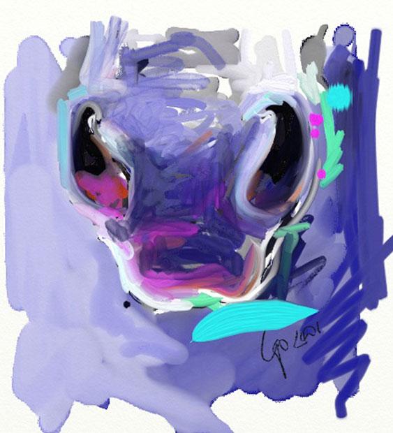 Digitaal schilderij van paard Neus van Paard