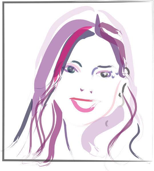 Digitaal schilderij van Zelfportret Go Digi