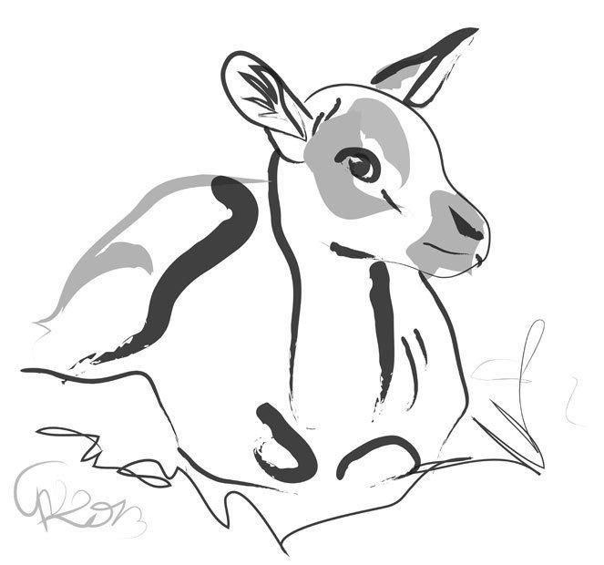 Digitaal schilderij van Bambi