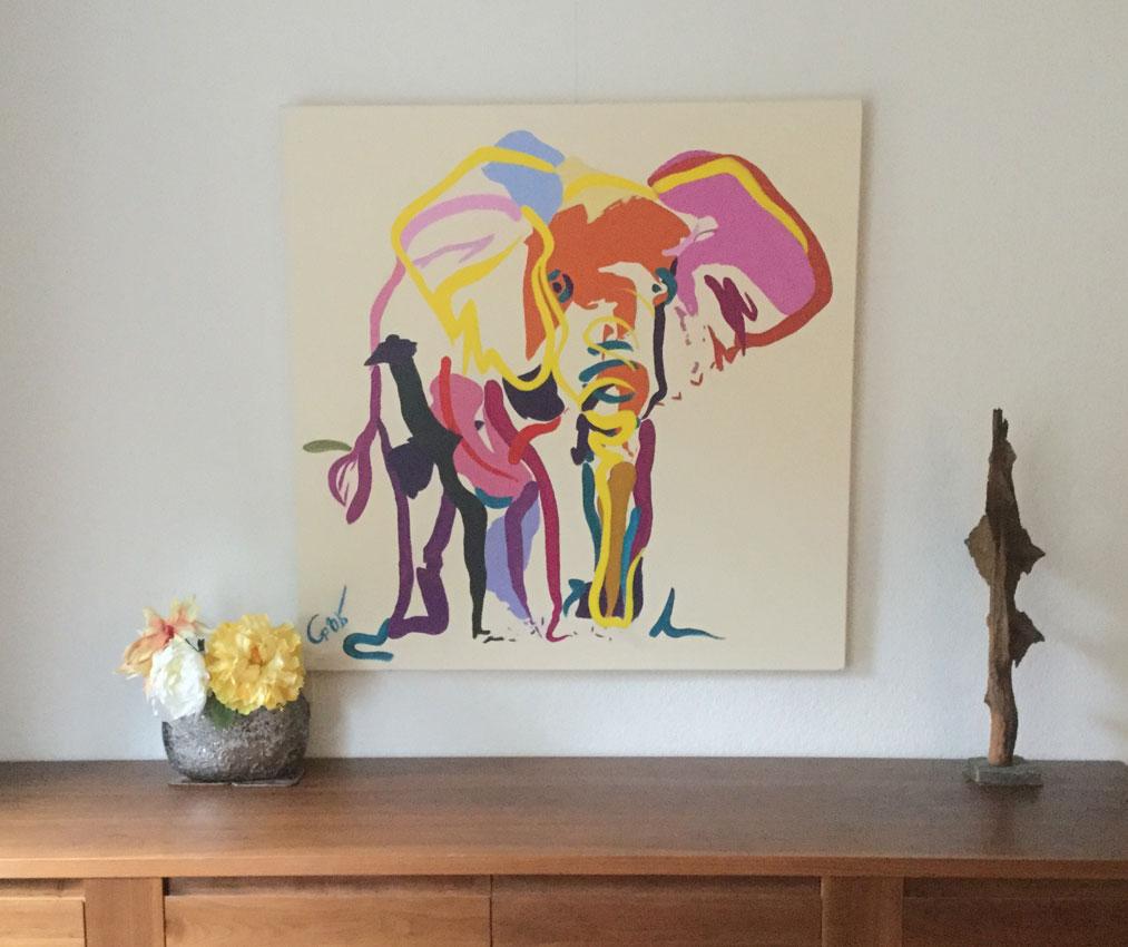 Kunst in de woonkamer go van kampen - Idee schilderij living ...