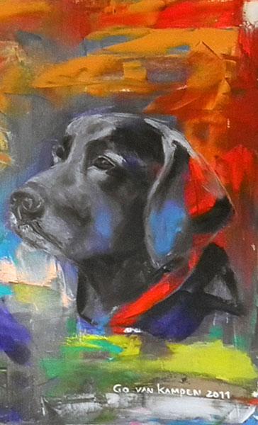 Digitaal schilderij van Hond Sem