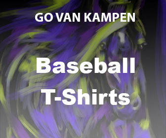 Kunst Heren Baseball Tshirts door Go van Kampen