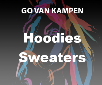 Kunst Dames Hoodies door Go van Kampen
