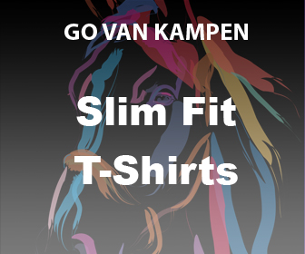 Kunst Dames Slim Fit Tshirts door Go van Kampen