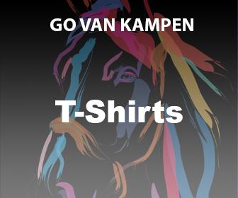 Kunst Dames Tshirts door Go van Kampen