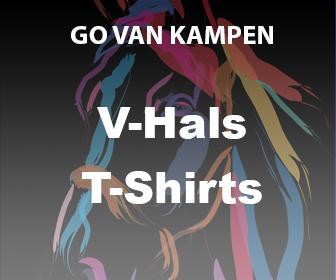 Kunst Dames V-hals Tshirts door Go van Kampen