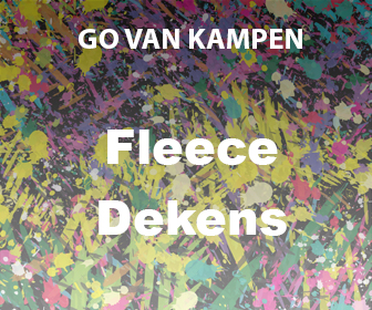 Kunst Fleece Dekens door Go van Kampen