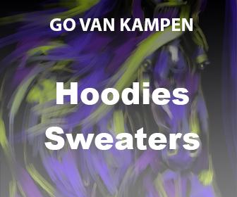 Kunst Heren Hoodies door Go van Kampen