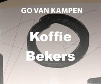 Kunst Koffie bekers door Go van Kampen
