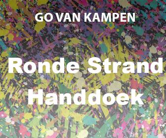 Kunst Ronde Strand Handdoeken door Go van Kampen