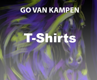 Kunst Heren Tshirts door Go van Kampen