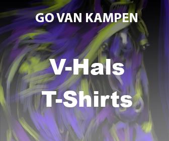 Kunst Heren V-Hals Tshirts door Go van Kampen