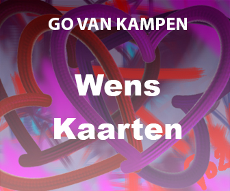Kunst Wenskaarten door Go van Kampen