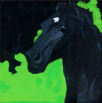 Horse painting Black beauty