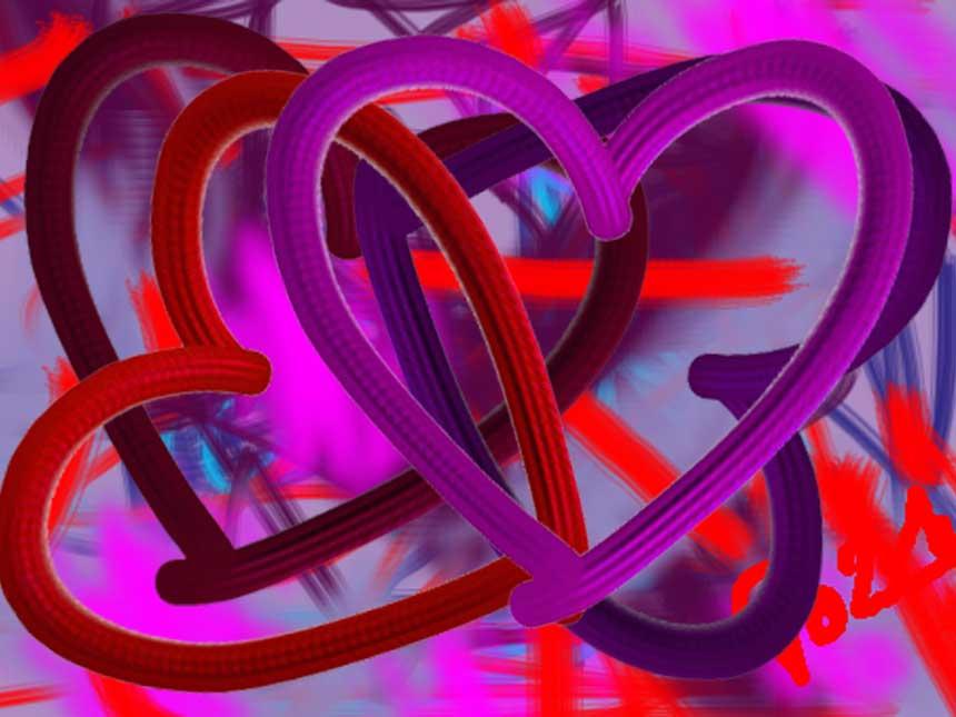 Digital painting Wild Hearts