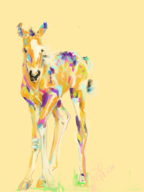 Digital painting Foal Jip