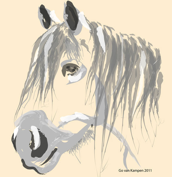 Digital painting Horse Big Jack