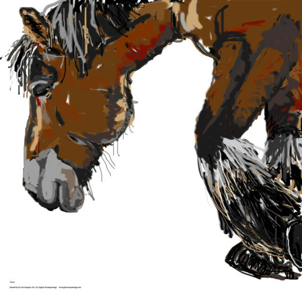 Digital painting Horse Guus