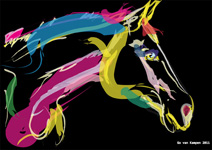 Digital horse painting lovely colours