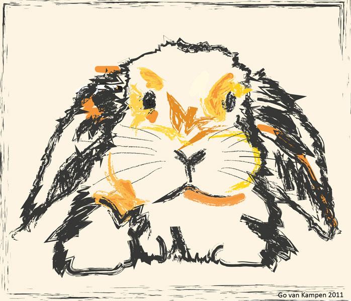 Digital painting Rabbit Jon