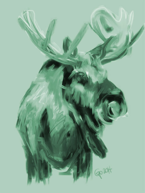 Digital painting XMas Moos