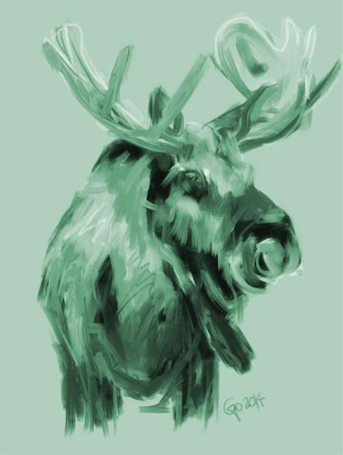 Digital painting XMas Moos