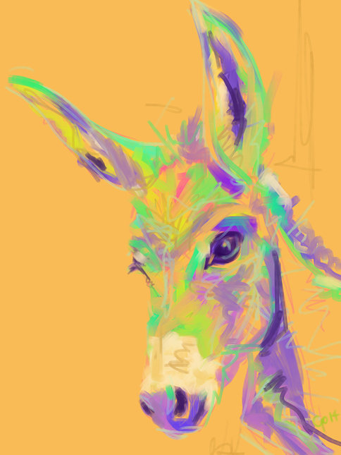 Digital painting Color Donkey