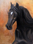 Horse painting Lucky star