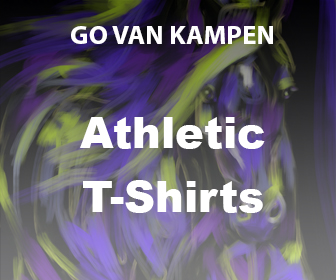 Art Men's Athletic Tshirts by Go van Kampen