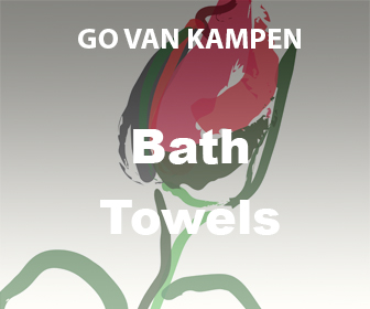 Art Bath Towels by Go van Kampen