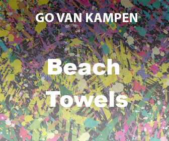 Art Beach Towels by Go van Kampen