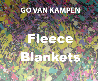 Art Fleece Blankets by Go van Kampen