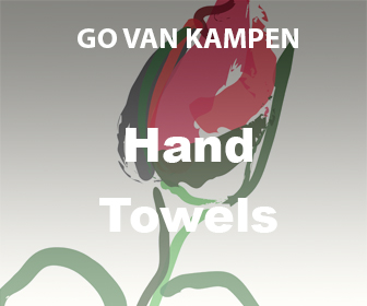 Art Hand Towels by Go van Kampen
