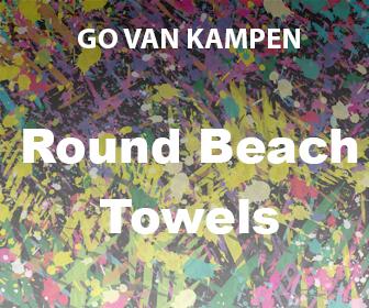 Art Round Beach Towels by Go van Kampen