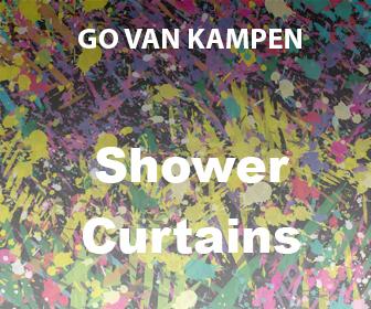 Art Shower Curtains by Go van Kampen