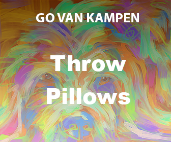 Art Throw Pillows by Go van Kampen