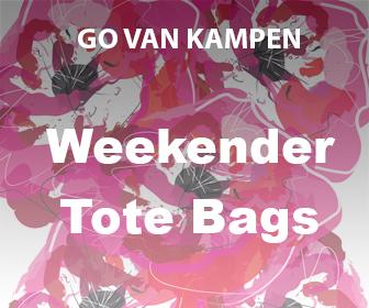 Art Weekender Tote Bags by Go van Kampen
